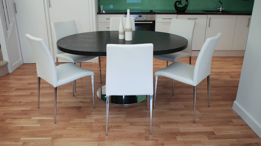 Contemporary Monochrome Extending Dining Set