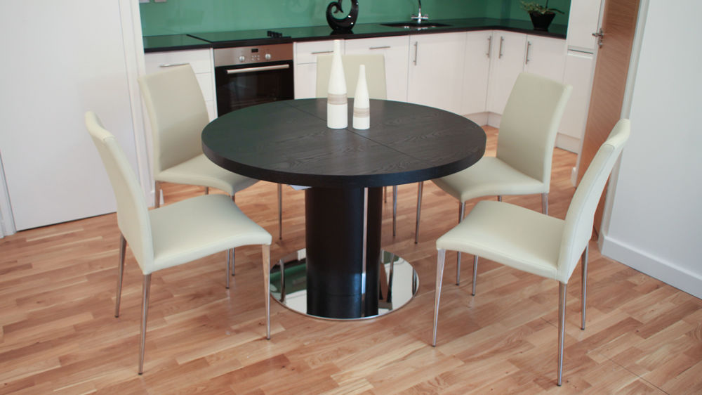 Black Ash Dining Table And Chairs Extending