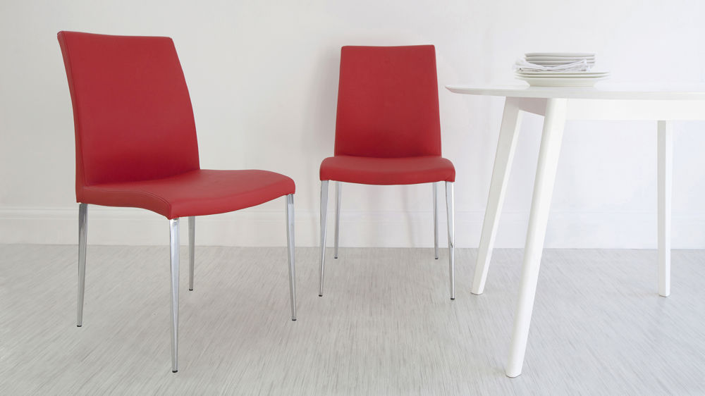 Modern Light Red Dining Chairs