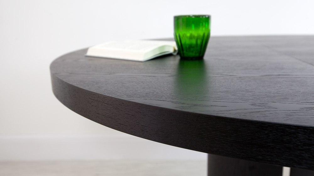 Modern Wood Veneer Dining Table