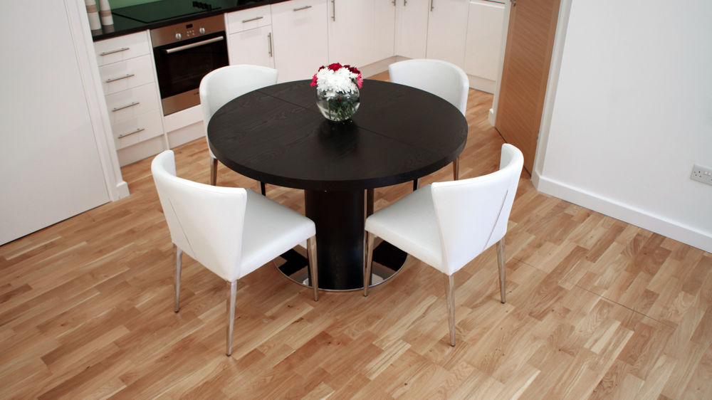Modern Black and White Extending Dining Set UK