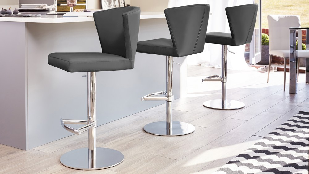 Curva Gas Lift Breakfast Bar Chairs Danetti