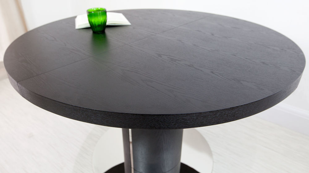 Black Ash Round Extending Dining Table Pedestal Base UKExtended round dining table. Pine Dining Table Round Extending. Home Design Ideas