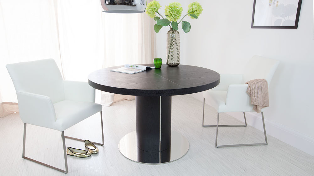 Modern Round Extending Dining Table