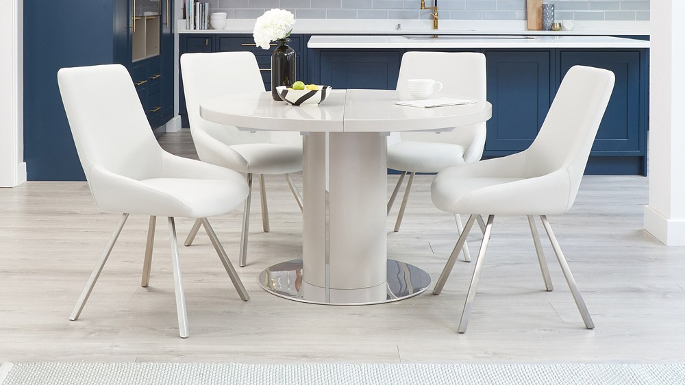 Modern round 4-8 dining tables