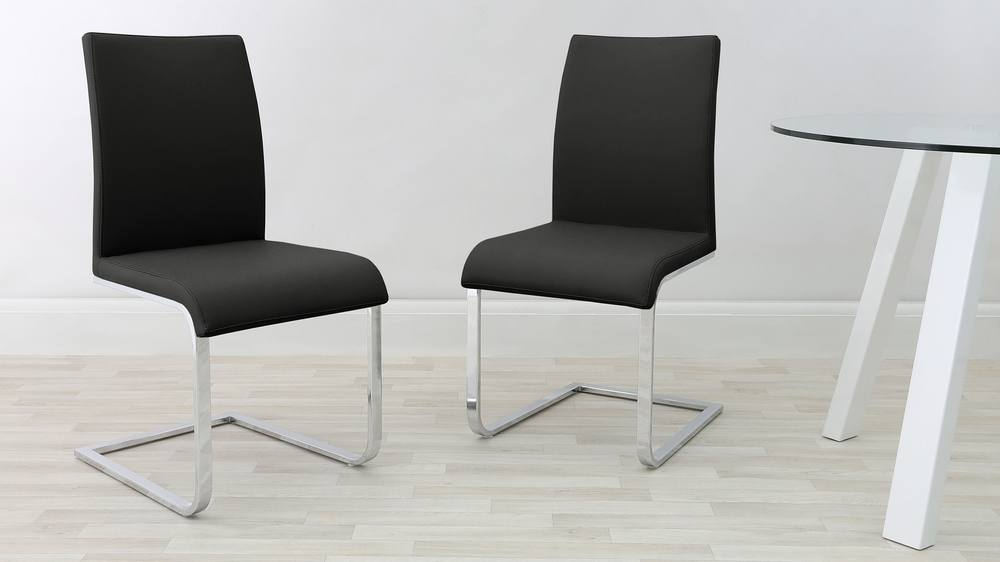 Cantilever Dining Chair in Black