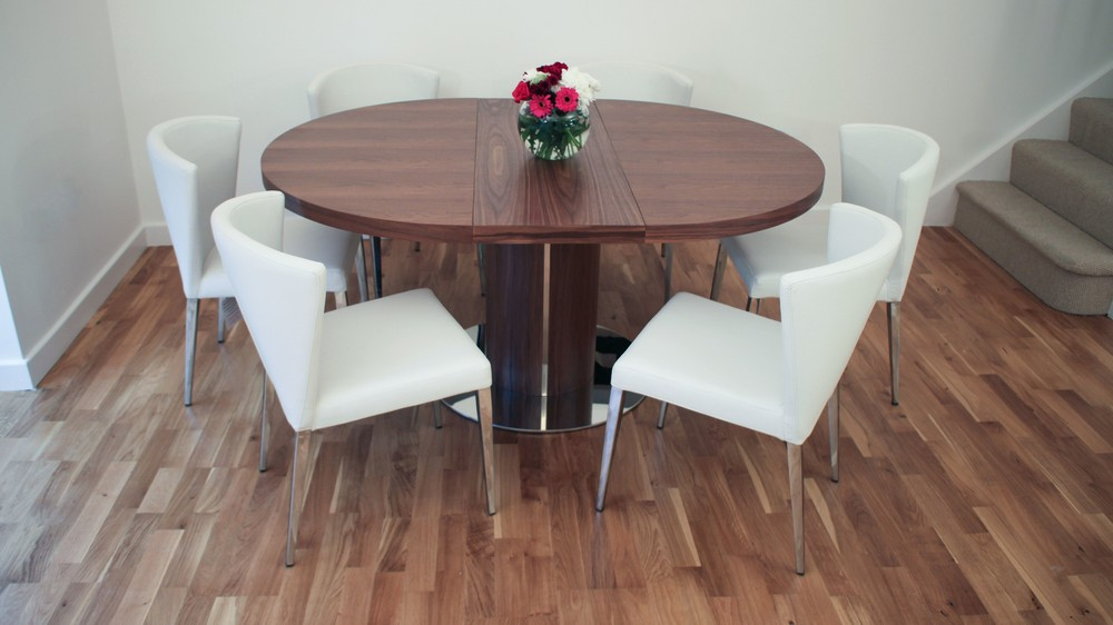 Comfortable Dining Chairs and Wood Veneer Dining Table