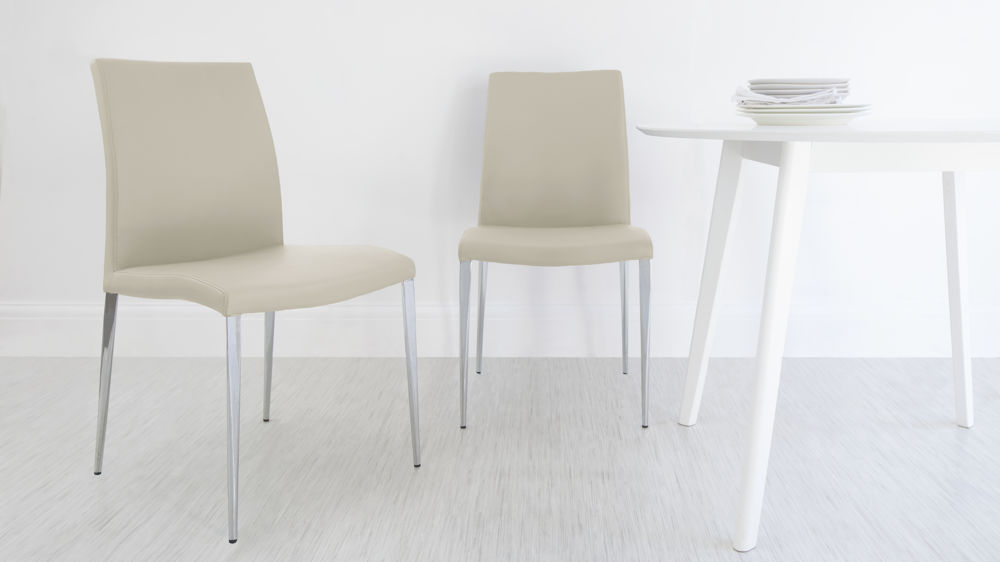 Stylish Beige Dining Chairs