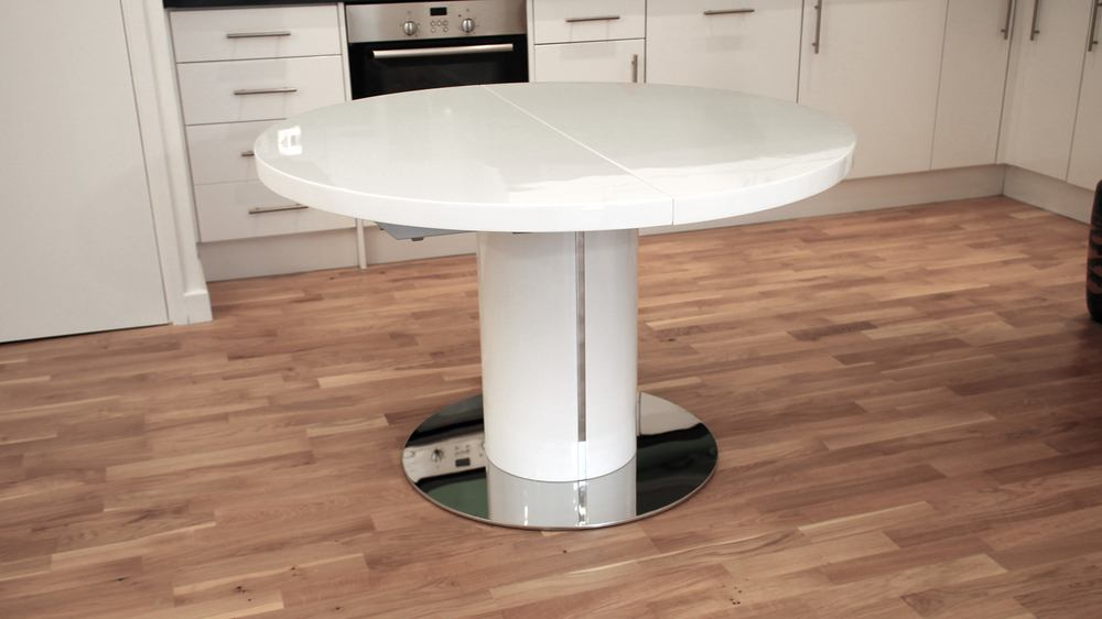 Round White Gloss Dining Table Part 54