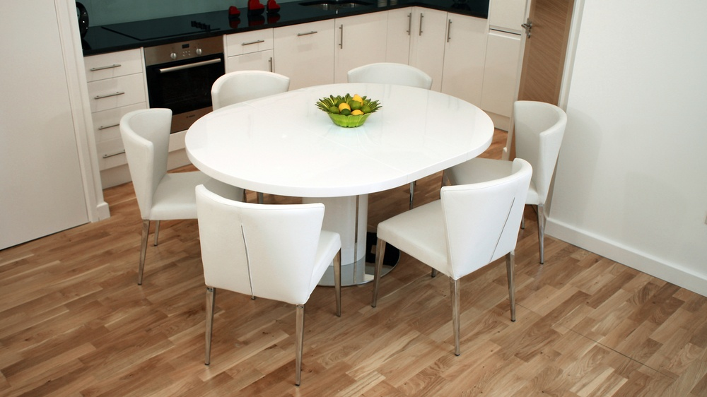 Modern Round White Gloss Extending Dining Table And Chairs : curva white gloss extending dining set 16 from www.danetti.com size 1000 x 562 jpeg 136kB