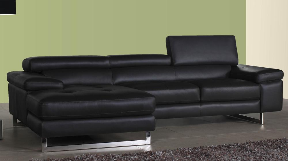 Stylish Black Leather Corner Sofa Uk Delivery