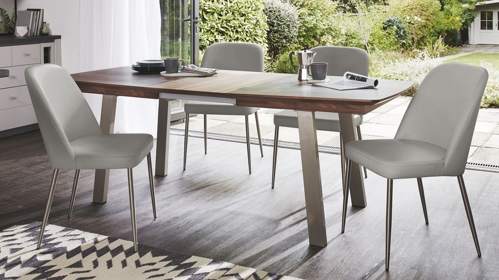 Cool grey deco dining set