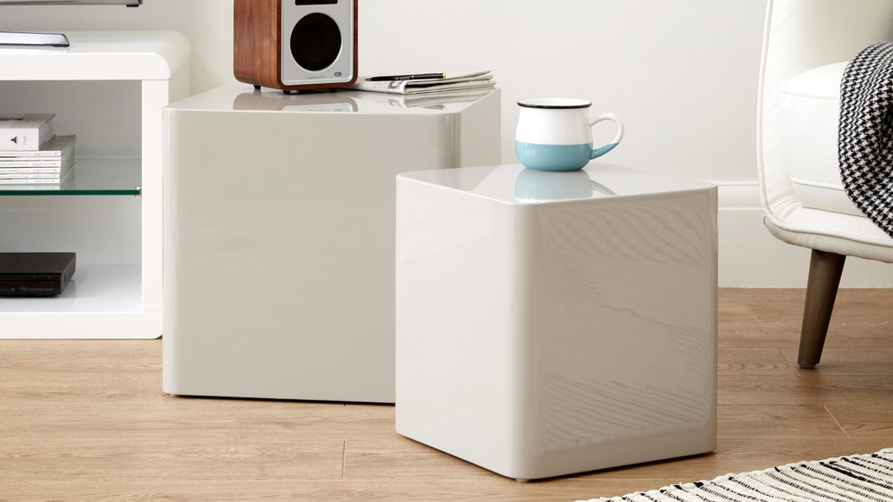 High shine side table
