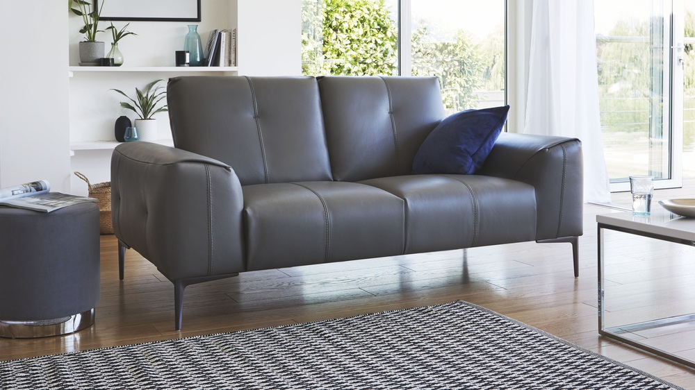 2 Seater Real Leather Sofa Dillon Sofa Danetti Uk