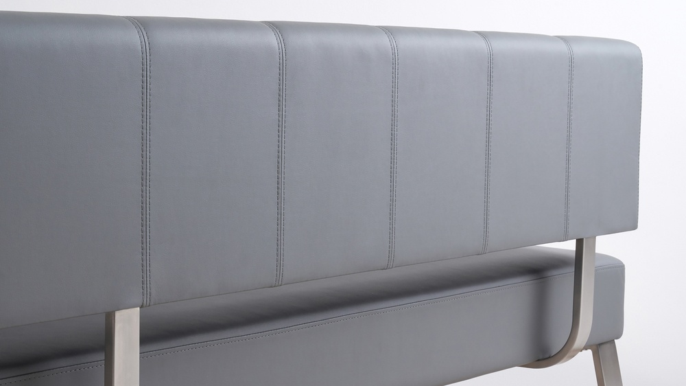 Faux leather large corner benches