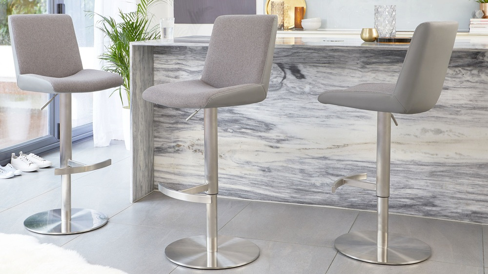 Buy fabric and faux leather bar stools