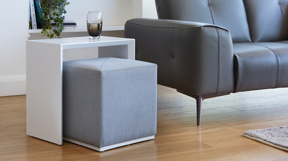 Modern Multipurpose Side Table Set Dark Grey Uk Delivery