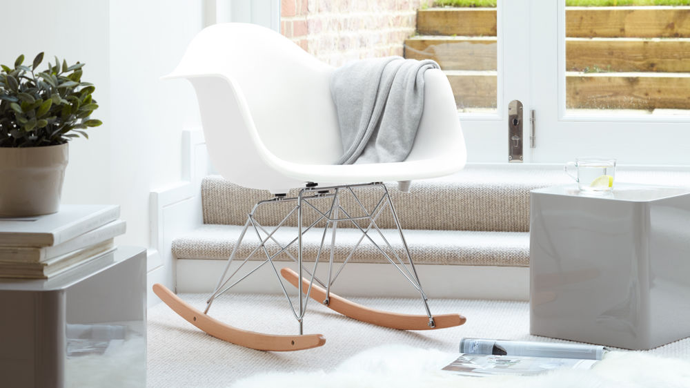 White Eames Rocking Chair