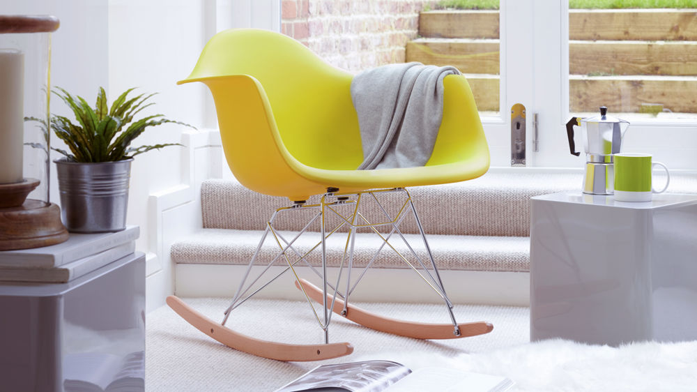 Eames Yellow Style Rocking Chair