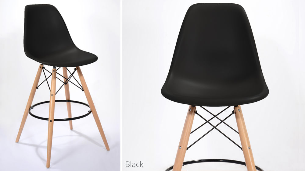 Black Fixed Height Bar Stool