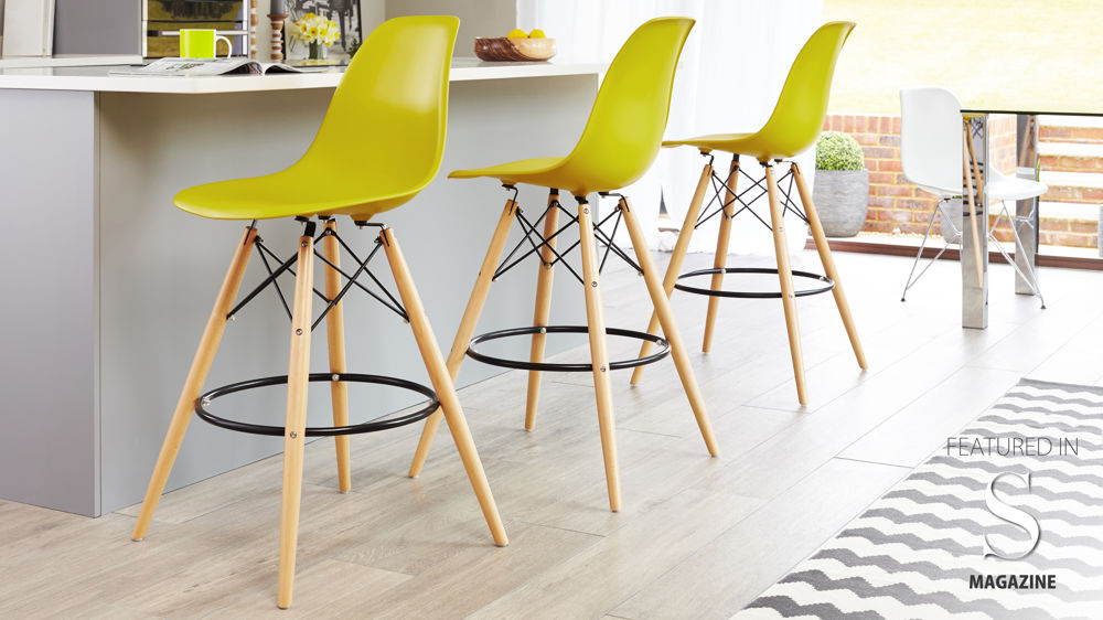 Bar Stools With Wooden Legs Eames Replica Stool High Quality Uk Fast Delivery