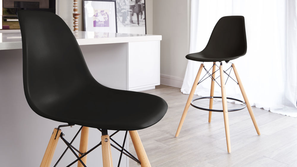 Black Plastic Bar Stools