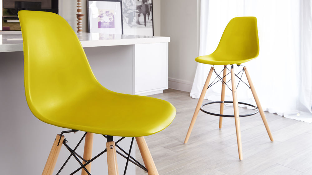 Yellow Plastic Bar Stools