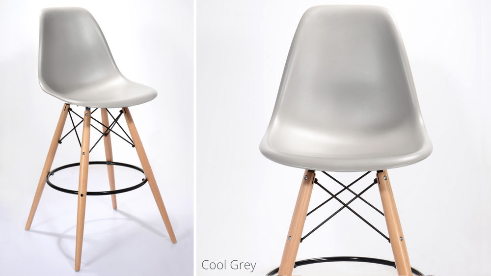 Light Grey Modern Bar Stool