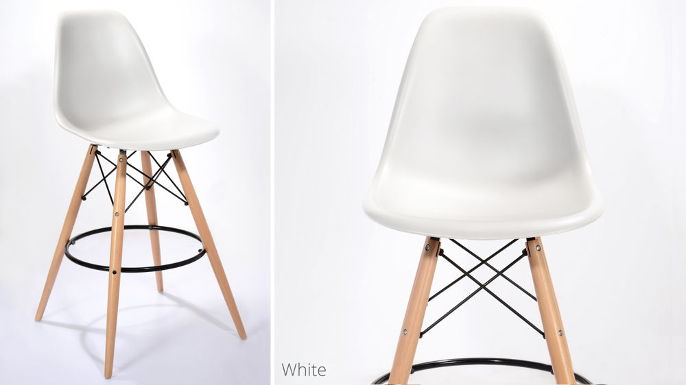 White Eames Bar Stools UK Delivery
