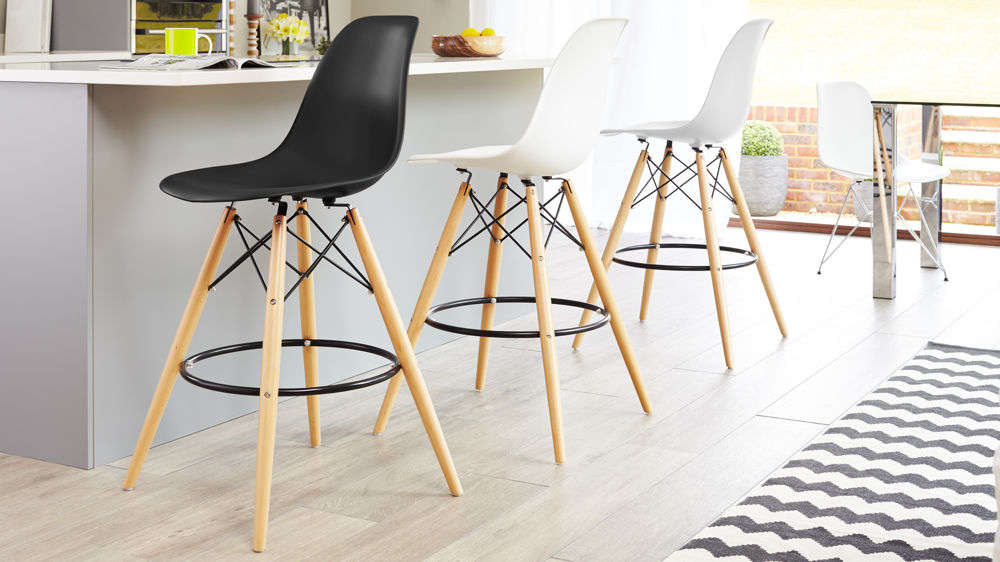 Contemporary Eames Style Bar Stools