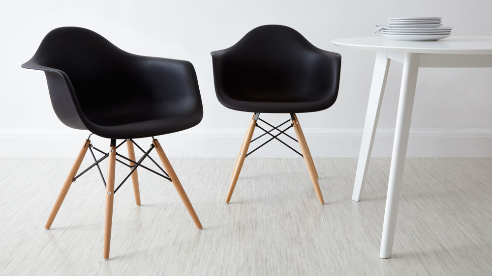 Black Eames Dining Armchairs