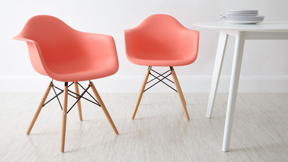 LIght Pink Eames Dining Armchairs