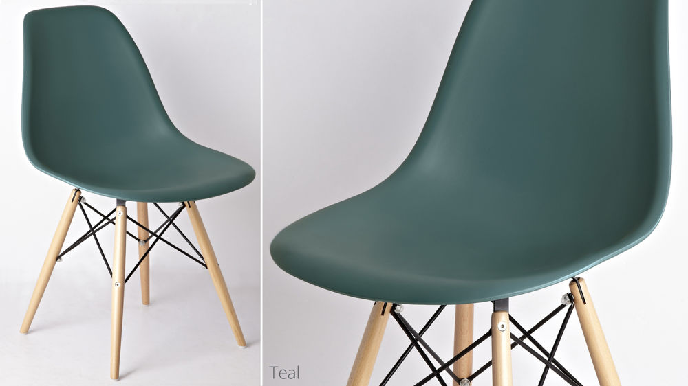 Coloured Eames Style Dining Chairs UK