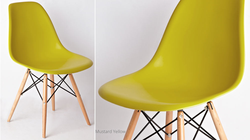 Yellow Eames Dining Chairs UK