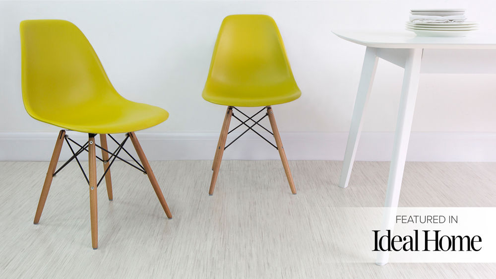 Amazing Yellow Eames Dining Chairs