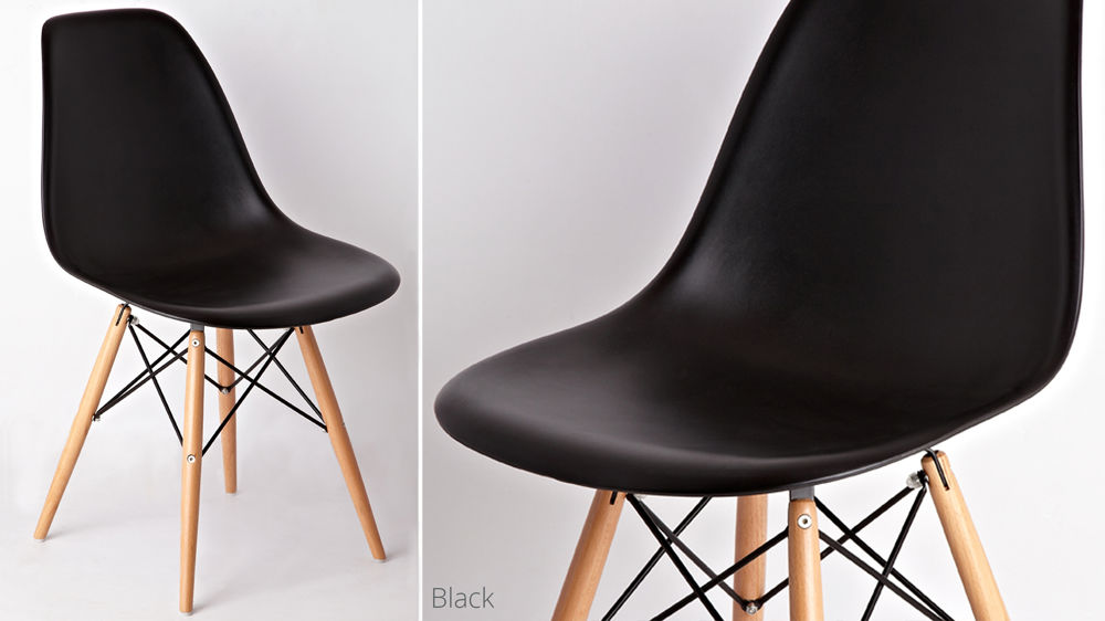Black Eames Dining Chairs UK Delivery