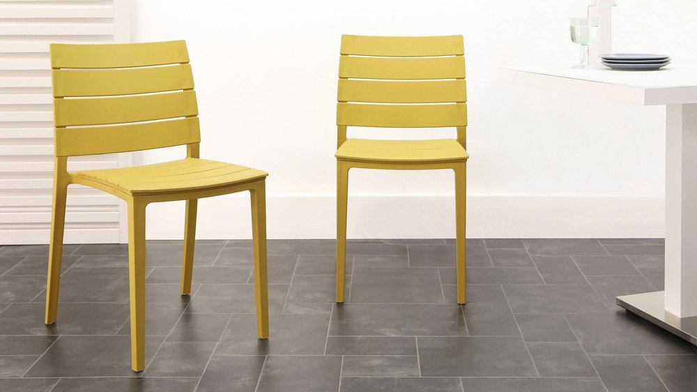 Mustard yellow edie garden chair