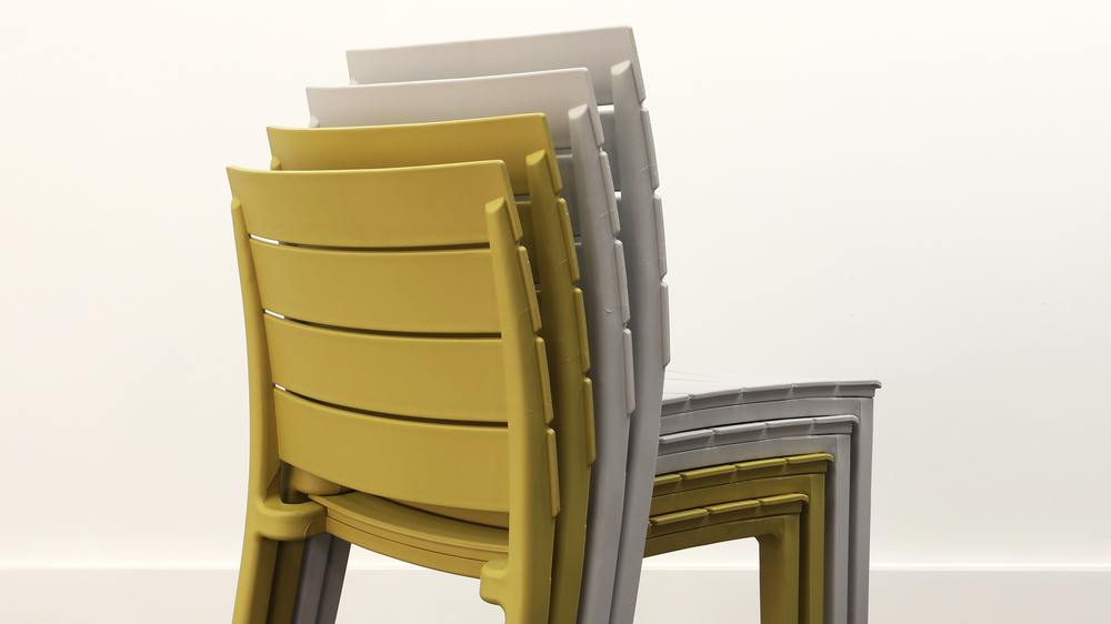 Modern stacking garden chairs
