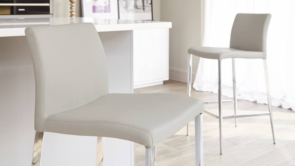 Grey Fixed Height Bar Stools