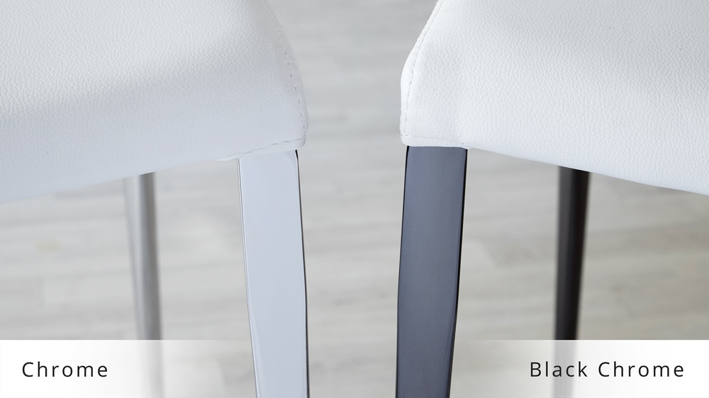 UK Delivery Modern Chrome Dining Chairs
