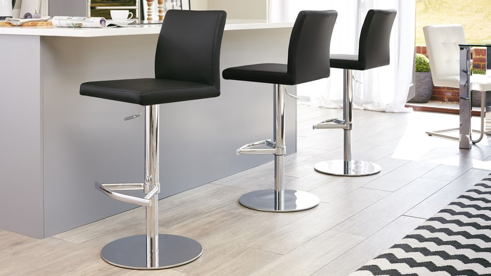 Swell Elise Chrome Gas Lift Bar Stool Andrewgaddart Wooden Chair Designs For Living Room Andrewgaddartcom