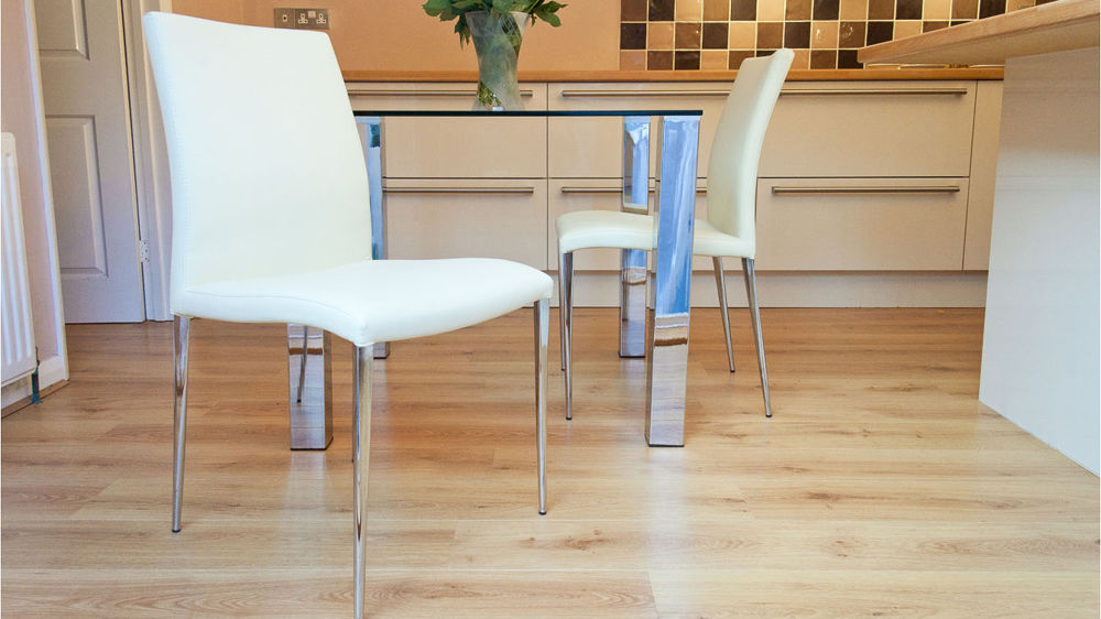 Modern Dining Chair Range Of Leather Chrome Legs
