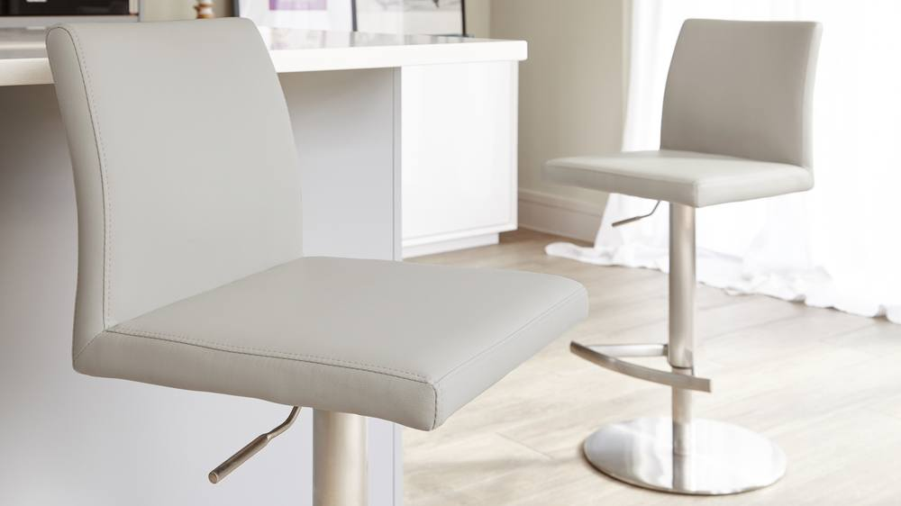 Comfortable Light Grey Bar Stools UK