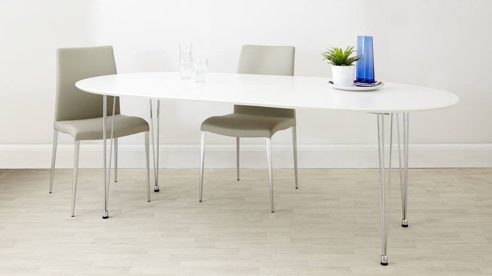White Strong extending table