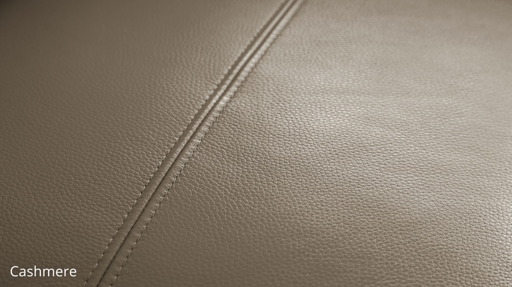 Cashmere quality leather sofa