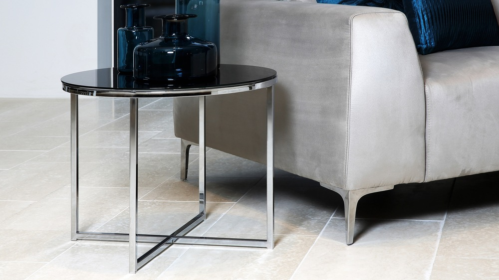 Contemporary Round Small Glass Coffee Table