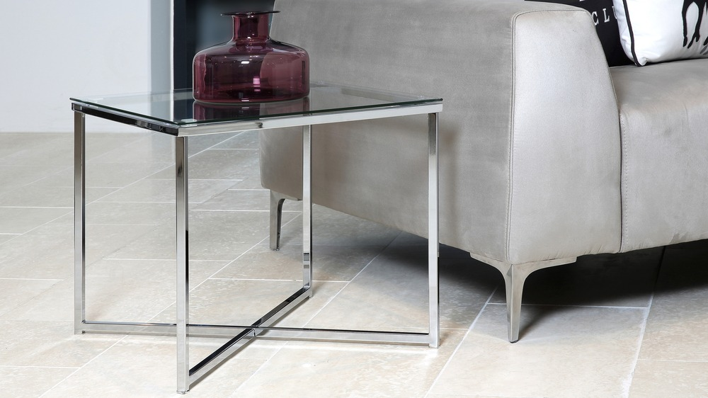 Contemporary Glass Small Coffee Table