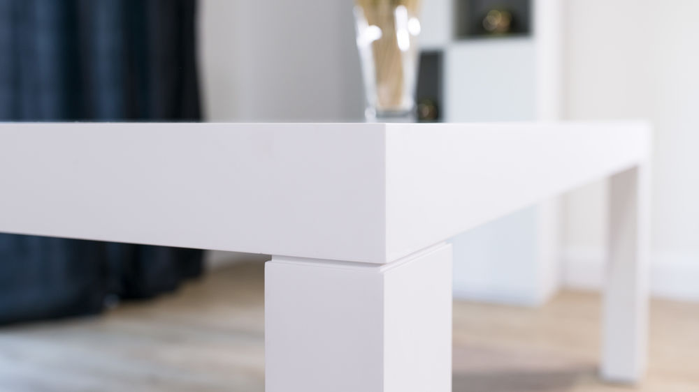 Stylish Thick White Dining Table