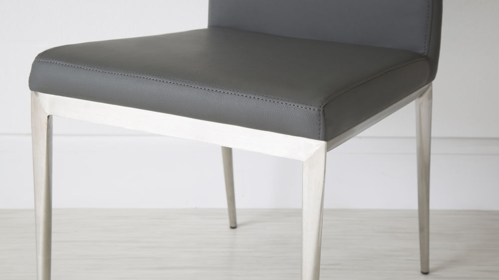 Comfortable Grey and Metal Dining Chairs