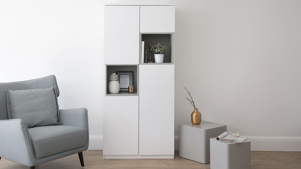 White Cabinet with Soft Closing Cupboards